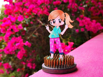 Beautiful Dress Up Girl Decoration Dies