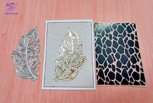 1PCS Plastic Geometry Embossing Folder