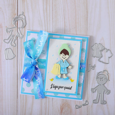 Dress Up Girl Decoration Dies