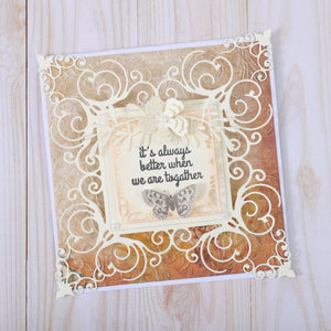 Lace Frame Flower Background Dies