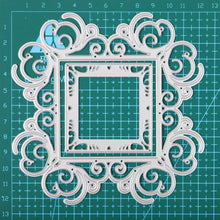 Load image into Gallery viewer, Lace Frame Flower Background Dies