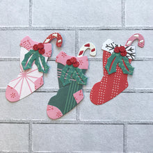 Load image into Gallery viewer, Christmas Candy Socks Dies