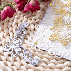 Grid Corner&Filigree Border Dies