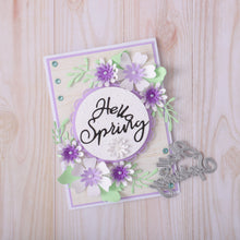 Load image into Gallery viewer, Hello Spring Words Dies