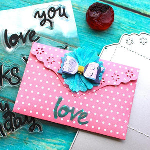 Flowers Frame  Envelope Dies