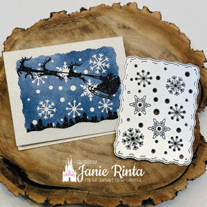 Different Shapes of Snowflakes Background Dies