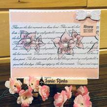 Load image into Gallery viewer, Script With Flowers Background Stamps