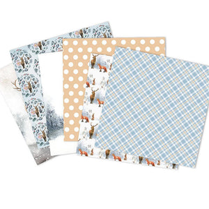 (2 Types) 6-Inch DIY Album Scrapbook Notebook Cardmaking Background Paper  Christmas Series (24PCS)