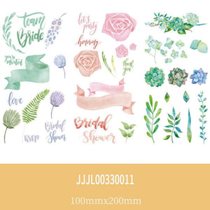 (3 Types)Cartoon and Daily Various  Decorative  Stickers<25pcs>