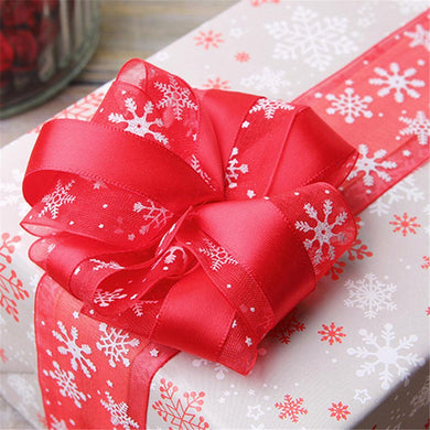 DIY Snowflake Organza Gift Wrapping Ribbon