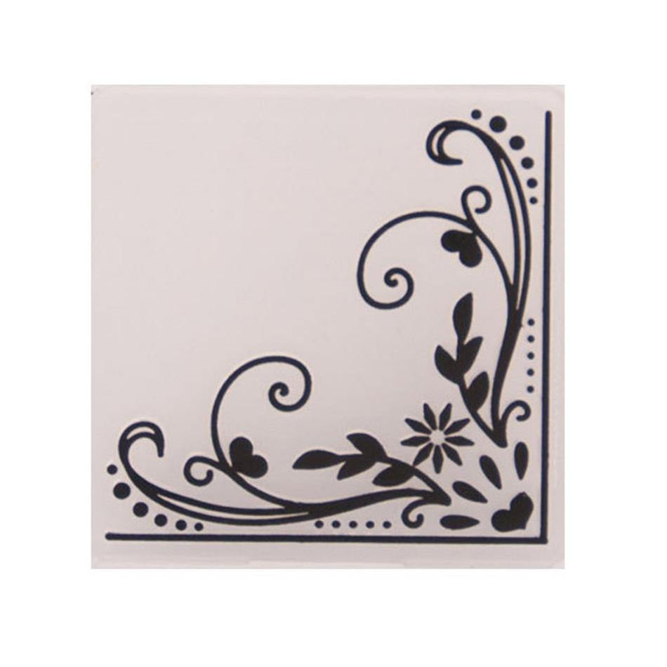 Floral Corner Decorative Pattern Plastic Embossing Folder