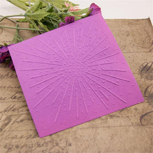 Load image into Gallery viewer, Firework Pattern Plastic Embossing Folder