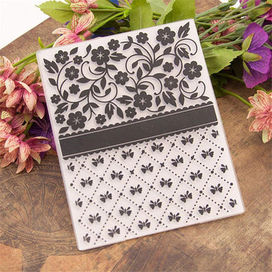 Beautiful Flowers Pattern Plastic Embossing Folder for Scrapbook DIY Album Card Tool Plastic Template Folders