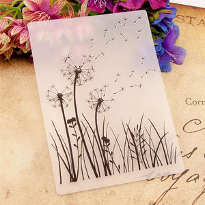 Dandelion Plastic Embossing Folder for Scrapbook DIY Album Card Tool Plastic Template Folders