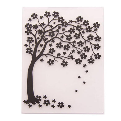 Tree Pattern Plastic Embossing Folder for Scrapbook DIY Album Card Tool Plastic Template Folders