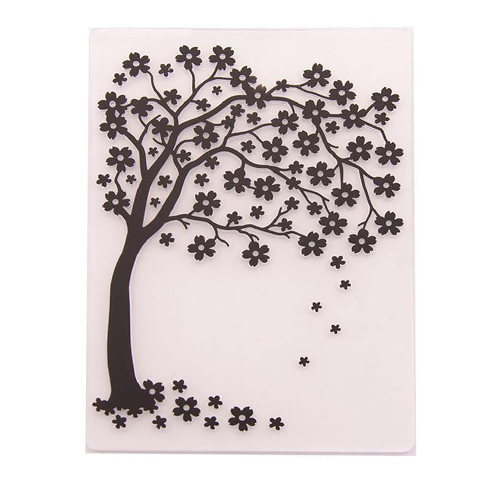 Tree Pattern Plastic Embossing Folder