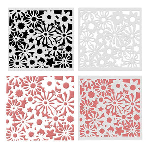 Hollow Flower Painting Template Layering Stencil