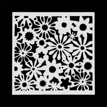 Load image into Gallery viewer, Hollow Flower Painting Template Layering Stencil