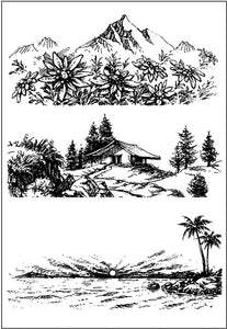 Landscape Background Stamps