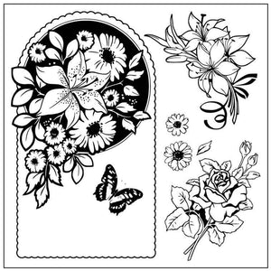 Flower and Butterfly Stamps