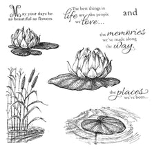 Load image into Gallery viewer, Lotus Leaf Flower Stamps