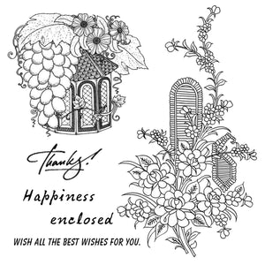 Harvest Fruit House Stamps