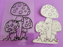 Load image into Gallery viewer, Cute Mushroom Stamps