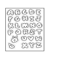 Load image into Gallery viewer, Outline English Alphabets Stamps