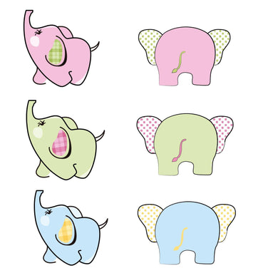 Cute Elephants Stamps