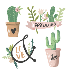 Wedding Plant Stamps