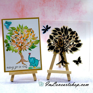 Tree Background Stamps
