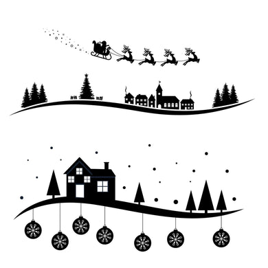 Christmas Scenery Background Stamps