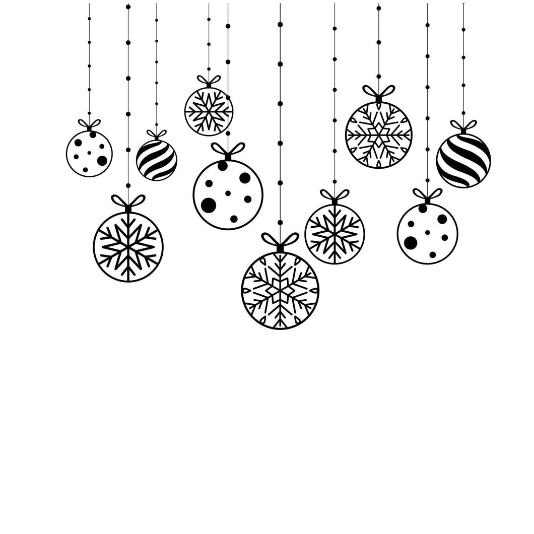 Christmas Crystal Ball Hanging Decor Stamps