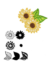 Load image into Gallery viewer, Oil Painting Style Sunflowers Stamps