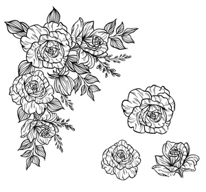 Blooming Flowers Stamps