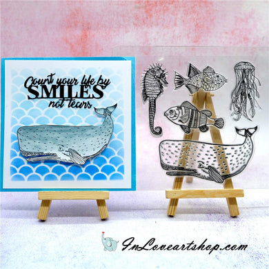 Whale,Seahorse & Octopus Stamps