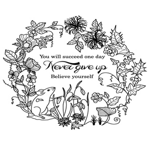 Flower Garden with Encouraging Wishes  Stamps