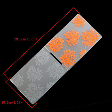 1PCS Plastic Flowers Embossing Folder