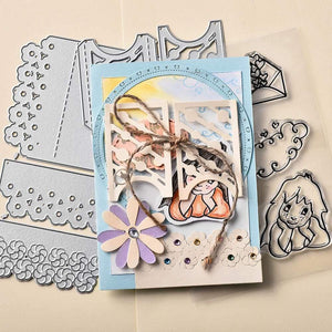 Eastshape United States Floral Edge Card Dies