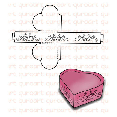 Eastshape United States Heart Box Dies