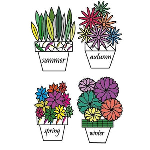 Eastshape United States Seasons Flowers Stamps