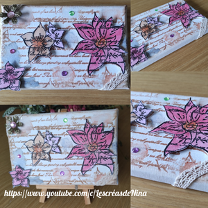 Script With Flowers Background Stamps