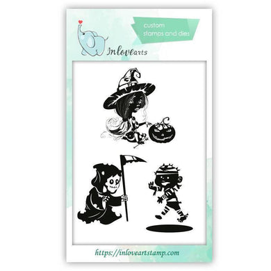 Inloveartstamp clear stamps / China Halloween Clear Stamps
