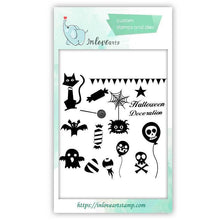 Load image into Gallery viewer, Halloween Clear Stamps