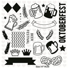 Load image into Gallery viewer, Inloveartstamp clear stamps / China Oktoberfest Clear Stamps