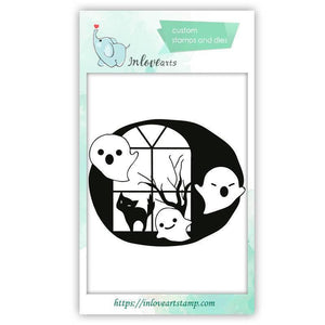 Inloveartstamp Halloween clear stamps / China Halloween  Clear Stamps
