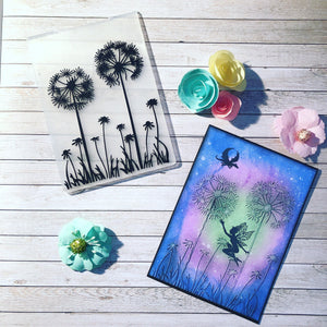 1PCS Dandelion Plastic Embossing Folder