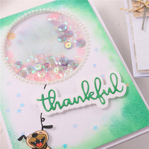 Thankful Word  Decor Dies