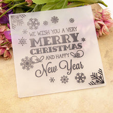 Load image into Gallery viewer, Merry Christmas Plastic Embossing Folder