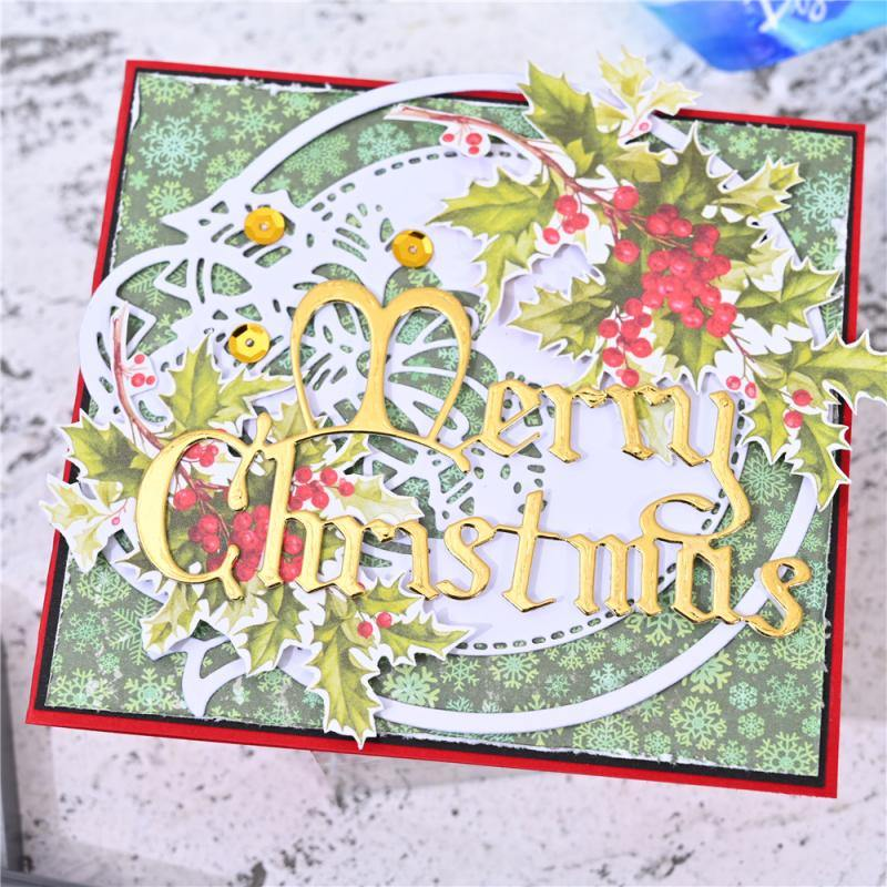 Floral Cup Frame & Merry Christmas Dies